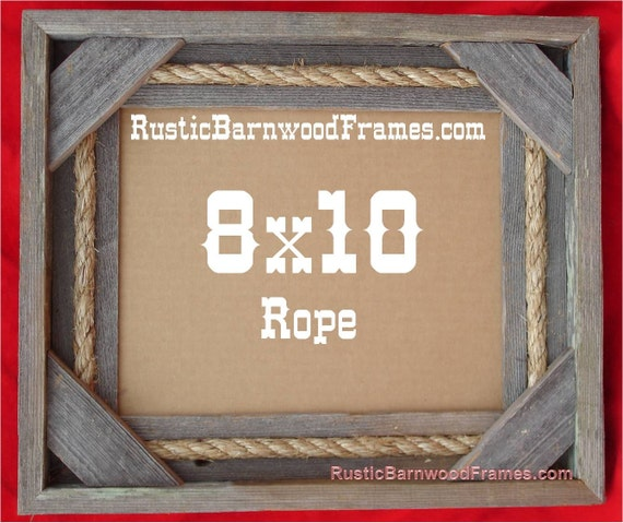 8x10 Rope rustic barn wood aged weathered reclaimed primitive