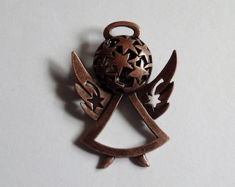 1 Copper Angel Jewellery Pendant 39x29mm