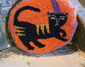 Binx - witch cat PAPER punch needle pattern - from Notforgotten Farm