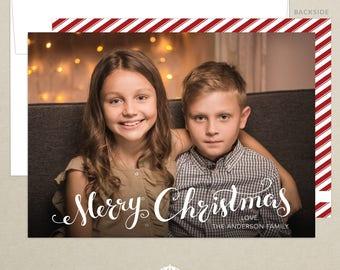Merry Christmas Photo Card - Holiday Card - Family Photo Card