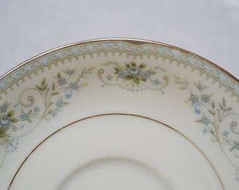 Vintage Noritake Colburn Saucer White Blue Floral Replacement PanchosPorch