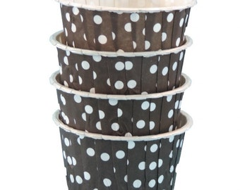 Black with White Dots Candy Nut Cups are perfect for filling with candy, nuts or other snacks