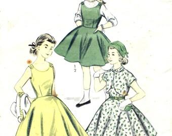 1950's Girl's Jumper and Bolero Size 10.5 (for full size girls)