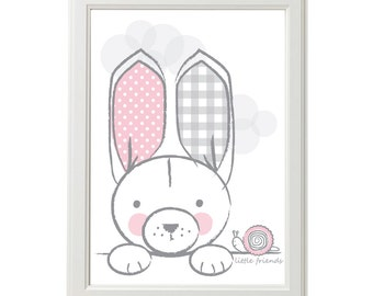 Little Bunny DOWNLOADABLE PRINT - A4