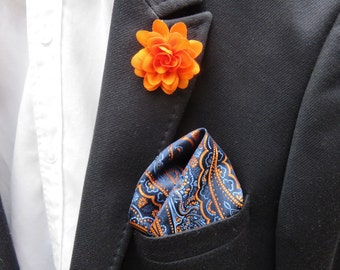 Suit Set. Tie. Lapel Pin. Pocket Square. Mens Lapel Flower. Wedding Gift. Gift Set. Groomsmen Gift. Best Man Gift. Mens Gift.