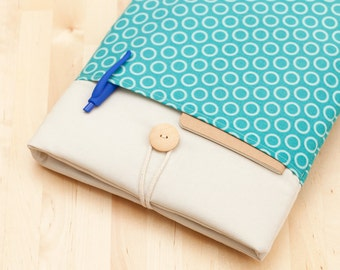 Surface Laptop Case, Microsoft Surface Pro Cover, Surface Pro sleeve, Surface Pro 4 Case - Light blue circles