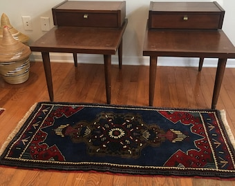 SOLD U2014  Pair Of Vintage Mid Century Modern End Tables Side Tables Step  Tables By