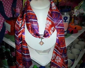 Clemson Scarf with Pendant