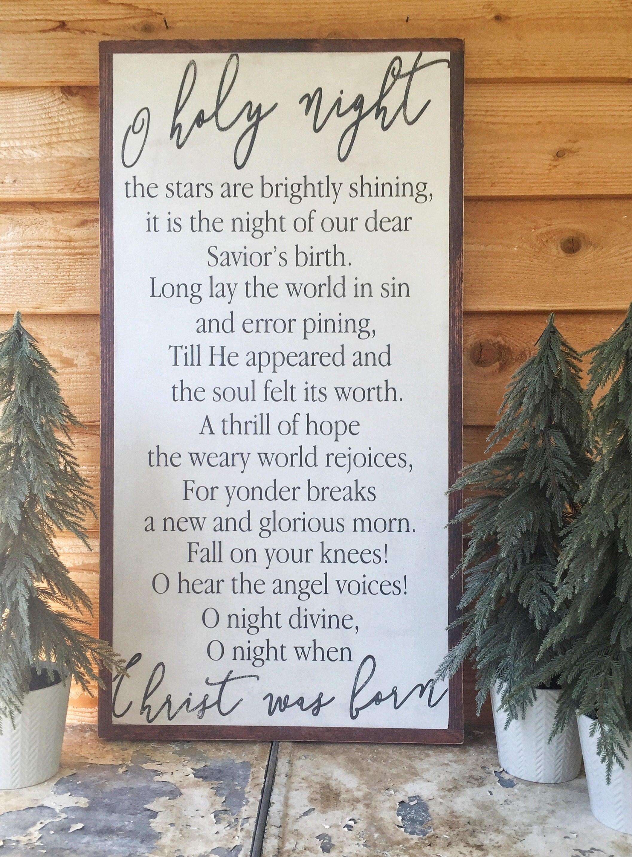 O holy night o holy night sign christmas song lyrics zoom stopboris Image collections