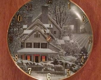Winter Wonderland Clock Plate !