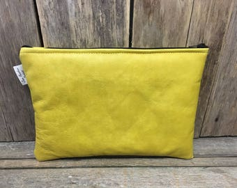 Leather ipad bags,ipad pouch,leather ipad sleeve,Tablet case,mustard leather ipad case, gifts for him,gifts for her.