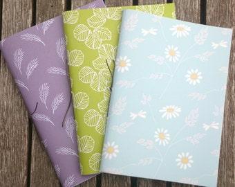 Pack of 3 Handmade A6 Notebooks - Set no. 4