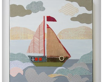 The Happy Boat II, wall art for children's room