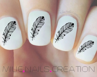 Feather Nail Decal