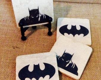 Batman 4 Piece Stone Tile Coaster Set