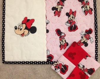 Minnie Mouse Cup Rug and Coaster, Set of 2