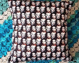 SMALL Whatever Happened to Baby Jane illustrated handmade cushion
