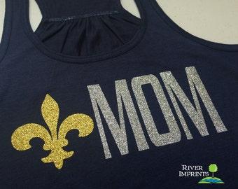 SCOUT MOM Flowy Tank, glitter sparkly jersey racerback tank,