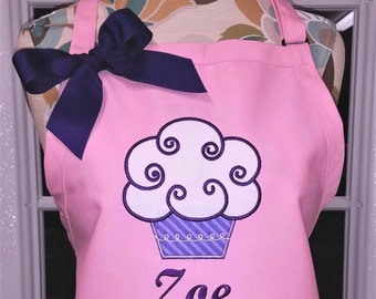 Monogrammed Apron Cupcake Apron Personalized Apron Baking Apron Monogrammed  Gift