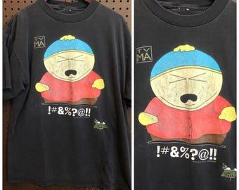 1997 South Park Eric Cartman Shirt Vintage Men's Large 90s Comedy Central
