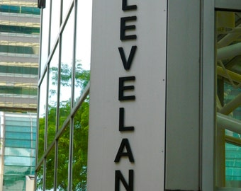 Cleveland Ohio Photo, Cleveland Sign Photo, Photography, Photo by Abby Smith, Down Town Cleveland, Home Decor, Wall Art, Photo Art,