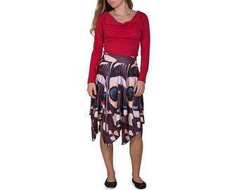 Brown/Aqua Butterfly Skirt