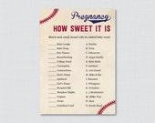 Baseball Baby Shower Preg...