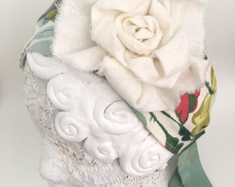 headband, bohemian head dress, vintage fabric, flower power headband, wide fabric headband, classy headband