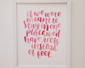 Custom Watercolor Lettering Quote