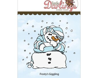 Frosty's Giggling (Little Darling Stamps) - unmounted rubber stamp by Little Darlings Rubber Stamps