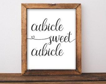 Work Printable Art, Cubicle sweet cubicle printable wall art, office art, work decor, gallery wall, office poster cubicle decor digital art