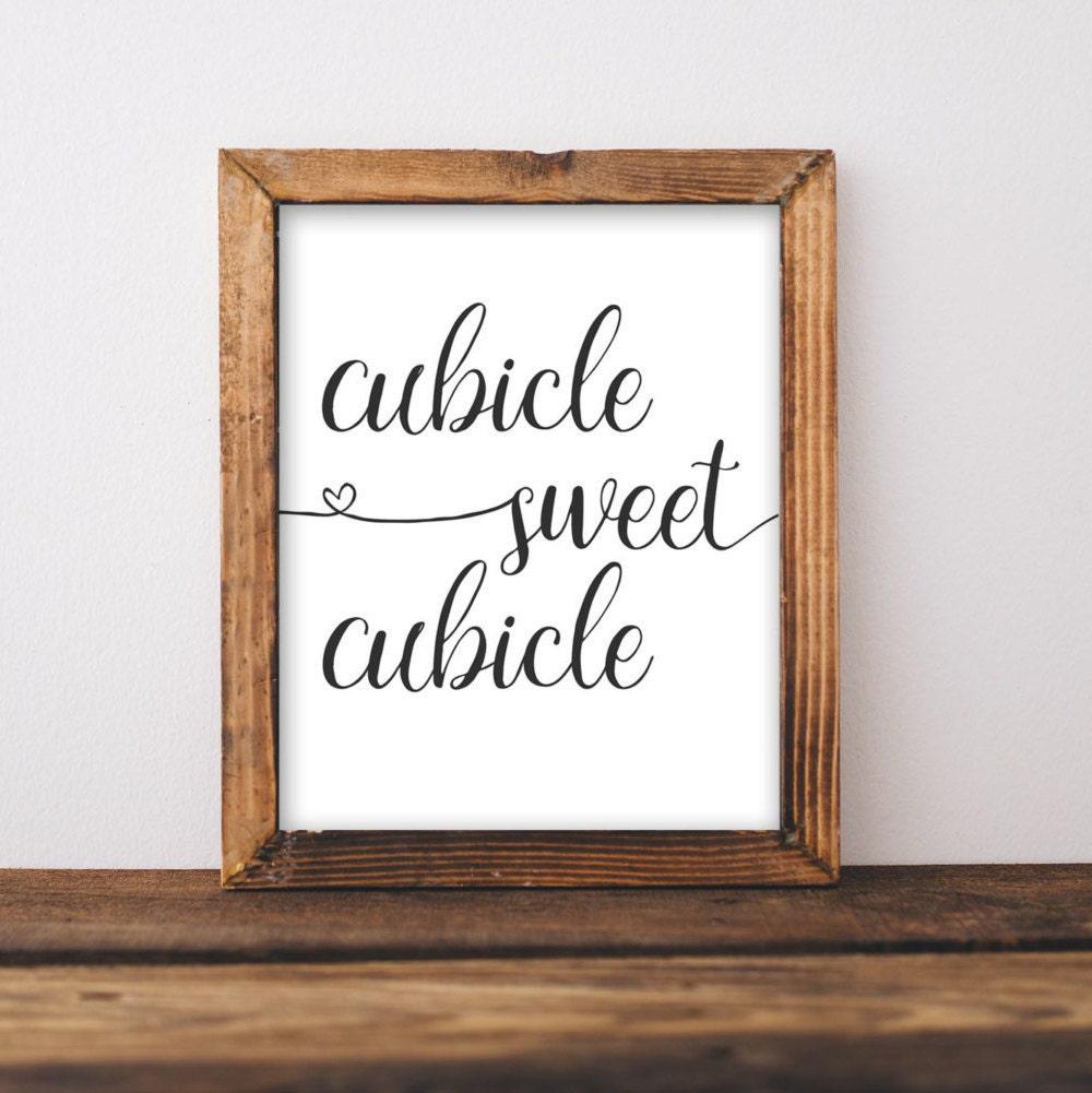 Work Printable Art Cubicle Sweet Cubicle Printable Wall Art