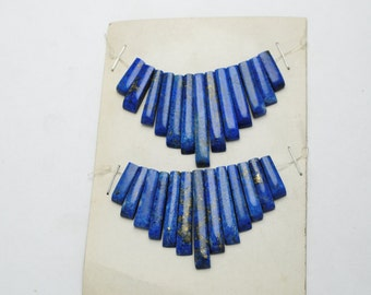 Lapis lazuli sliver pearls for creations