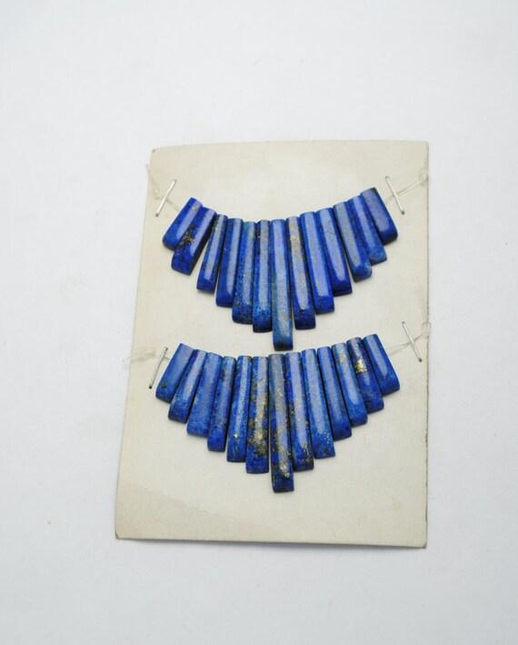 Lapiz lazuli sliver pearls for creations