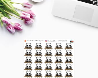 Amanda The Panda ~ Work ~ Planner Stickers CAM PANDA 007