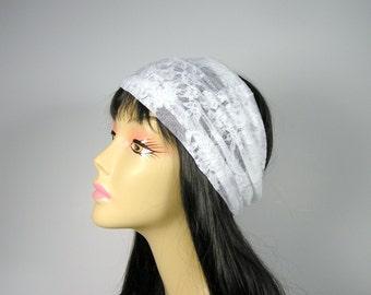 White Lace Head Wrap White Lace Headband Lace Head Wraps Lace Headbands Lace Hair Wraps Head Wraps Lace Turban Head Wraps White Lace Turbans