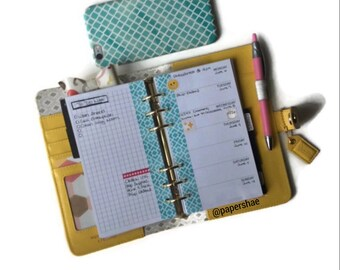 Personal Size Printed Week On One Page (WO1P) Undated Planner Inserts (Monday Or Sunday Start)