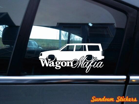 Low wagon mafia car sticker for volvo 940 turbo station wagon version 2 from sundownstickers on etsy studio