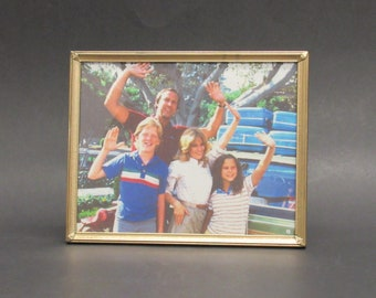 Vintage Goldtone 8x10 Photo Frame with Vacation Griswold Family (E10085)
