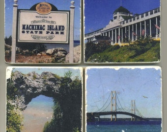 Mackinac Island Collection - 4 original coasters