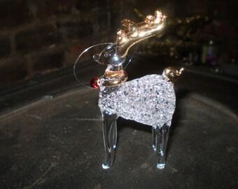Danish Glass Crystal Reindeer ChristmasHanging decoration,Ornaments