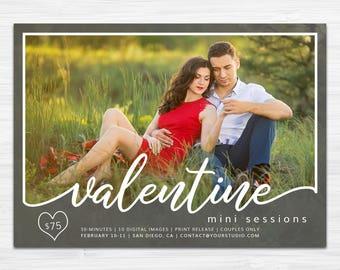 Valentine Mini Session Template   Photography Marketing