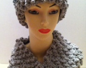 Thick Wide Headband and Cowl Scarf