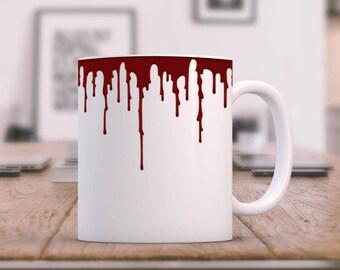 Horror Mug, Halloween Mug, Scary Coffee Mug, Bloody Bug, Vampire Mug, Horror MOvie Mug, Horror Movie