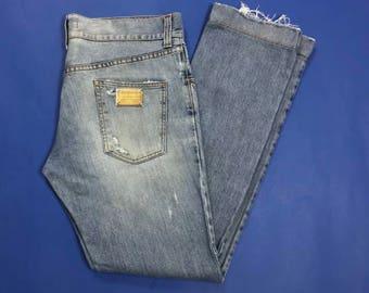 Dolce Gabbana jeans uomo usati slim strappi destroyed boyfriend W36 Tg(IT)50 T3125
