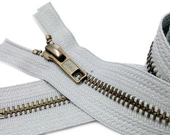 20 inch Antique Brass Separating Zippers (custom) YKK #5 Antique Brass
