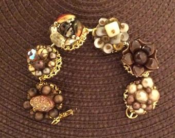 Stunning Upcycled Vintage Earring Bracelet