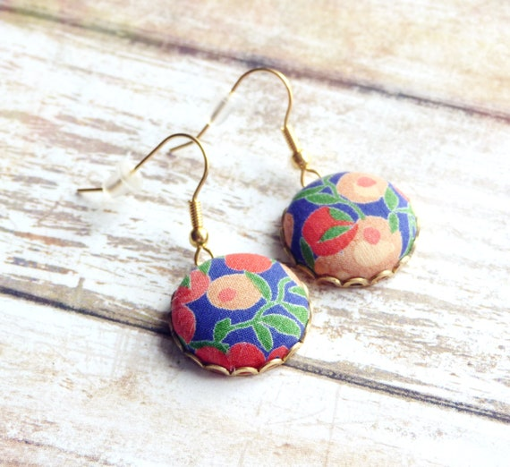 Liberty earrings, Colorful earrings, Multicolor earrings, Flower earrings, Liberty jewelry, Summer trends, Gift under 30, Stainless steel