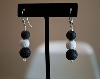 Lava Stone Trinity Earrings