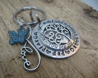 Gift for Mom, Mothers Day gift , Kids names key chain, key chain for Mother, Custom name key chain, Mom you are the heart of the family
